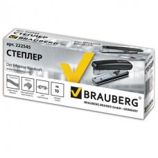 """Степлер BRAUBERG """"Nero"""", №10, до 12 листов, пластиковый корпус, металлический механизм, черный"""