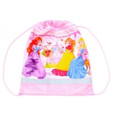 Сумка-мешок для обуви ИДП. с карманом. светоотр. Принцессы-подружки