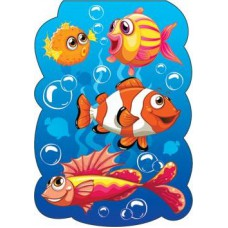 Закладка - магнит картонная МО 2-89-102А Рыбы