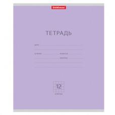 Тетрадь 12 листов Полиграфика , клетка, фиолетовая