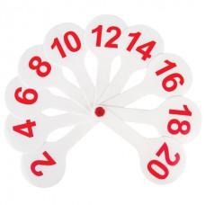 Веер-касса (цифры от 1 до 20) ПИФАГОР, 227392