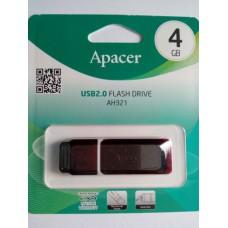 Флэш-диск APACER 4GB Handy Steno AH321 USB 2.0, скорость чтения/записи - 10/3 Мб/сек