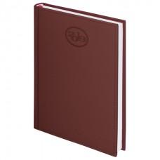 """Ежедневник датированный 2019, А5, BRAUBERG """"Favorite"""", фактурная кожа, коричневый, 138х213 мм, 129077"""