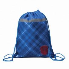"""Сумка для обуви BRAUBERG для учеников начальной школы, плотная, """"Оксфорд"""", синяя, 45х35 см"""