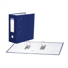 Папка-регистратор с двумя арочными механизмами (до 800 листов), покрытие ПВХ, 125 мм, синяя, 251541