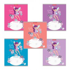 "Тетрадь 12 л., ERICH KRAUSE, клетка, мелованный картон обложка, ""Flower Fairy"""