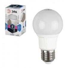 Лампа светодиодная ЭРА, 8 (70) Вт, цоколь E27, грушевидная, холодный белый свет, 25000 ч., LED smdA60-8w-840-E27