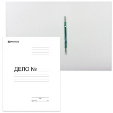 Скоросшиватель картонный BRAUBERG Standard, гарант. пл. 300 г/м2, белый, до 200л.