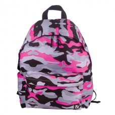 Рюкзак BRAUBERG (БРАУБЕРГ) универсальный, сити-формат, розовый, Камуфляж, 20 литров, 41*32*14 cм