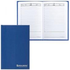 Ежедневник BRAUBERG полудат. на 4 года А5 145*215мм, 192л., обл. бумвинил, синий